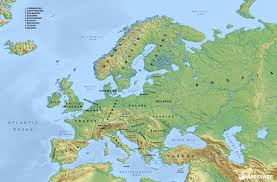 map of eurup free physical maps of europe mapswire