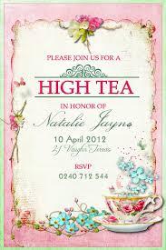 kitchen tea party invitation ideas victorian high tea party