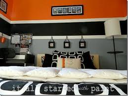 Orange And White Bedroom Teen Boy Bedroom In Orange Gray Black