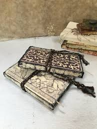 handmade photo albums vintage style wedding guest books rustic