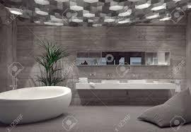bathroom interior modern grey luxury bathroom interior with a free standing boat