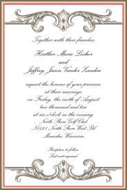 Invitation Card Format For Marriage Fascinating Official Invitation Card Sample 34 On Carlton Cards