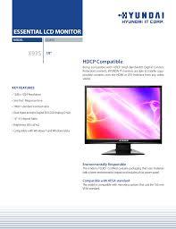 download free pdf for hyundai x93s monitor manual