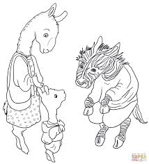 llama coloring page getcoloringpages com