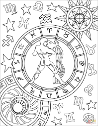 zodiac color aquarius zodiac sign coloring page free printable coloring pages