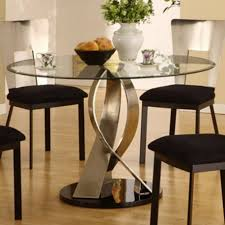 Small Glass Dining Tables Dining Room Small Square Clear Black - Black glass dining room sets