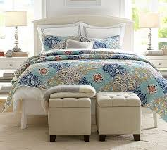 Sateen Duvet Cover King Avery Embroidered Sateen Organic Duvet Cover U0026 Sham Pottery Barn