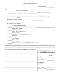 personal reasons resignation letter template 5 free word pdf