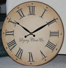 furniture oversized wall clock antique rustic tuscan