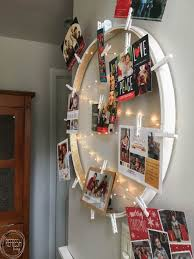 christmas card display holder diy christmas card holder refresh living