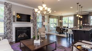 Model Home Living Room by M I Showcases Homes In New Phase Of Traditions At Wake Forest