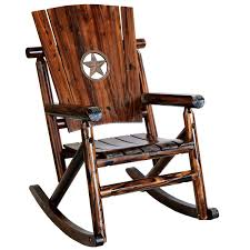Wooden Chair Png Leigh Country Char Log Single Rocker With Star Hayneedle