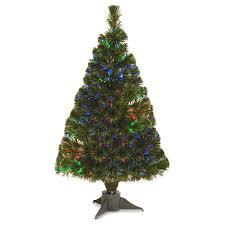 fiber optic ice pre lit full christmas tree walmart com