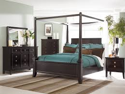 North Shore Canopy King Bed by Pieces Cherry King Poster Canopy Bedroom Set With Marble Top