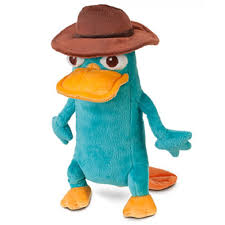disney phineas and ferb perry plush 10inch mini bean