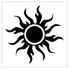collection of 25 swirls sun stencil