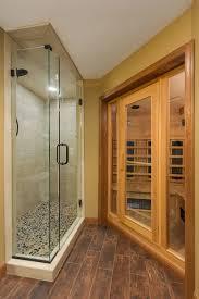 prairie basement steam room shower transitional basement