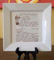 engraved platter family recipe on a platter personalized with your favorite recipe