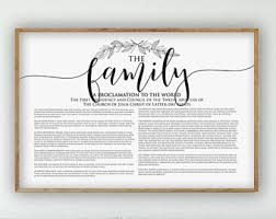 family proclamation the family proclamation print lds family proclamation modern