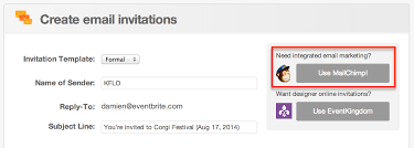 email invites how to set up the mailchimp integration eventbrite support