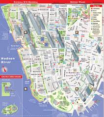 Subway Nyc Map Streetsmart Nyc Map By Vandam City Street Map Of Manhattan New