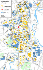 Atlanta Georgia Map Uga Campus Map University Of Georgia Map United States Of America