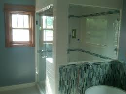 Shower Room by Bathroom Acrylic Wall Shelves Glass Beam Futuristic Blue