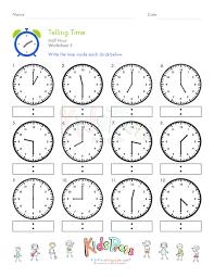 telling time half hour worksheet 5 telling time worksheets
