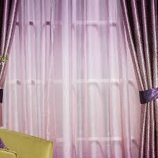 Thick Purple Curtains Gradient Purple Polyester Jacquard Blackout Curtains
