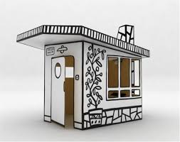 cardboard play house villa julia by magis digsdigs