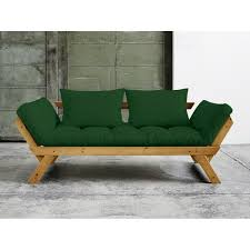 matelas futon canapé canapé convertible en bois miel avec matelas futon bebop vert