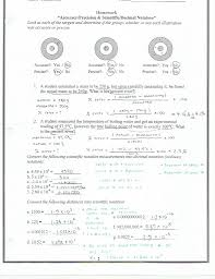 Accuracy Vs Precision Worksheet Answers Unit 1 Ms Huang S Chemistry Website