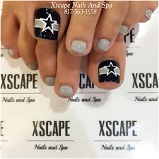 dallas cowboys toe designs toe nails designs pinterest