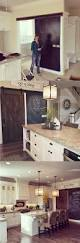 best farmhouse kitchen decor and design ideas for rustic chalkboard kitchen accent wall