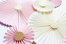 wedding backdrop gold paper rosettes paper pinwheels wedding backdrop blush