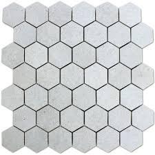 light grey hexagon tile mosaic tiles hexagon constanta light grey tg19991