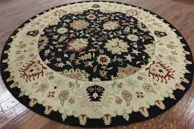 10 Round Rugs by Hand Knotted Oriental Black 10 U0027 Round Soumak Rug H614