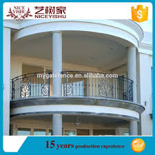 yishujia factory steel balcony handrail fence iron grill design