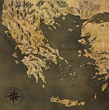 Map Of Ancient Greece Oc Made A Map Of Ancient Greece For A D U0026d Campaign Around 440