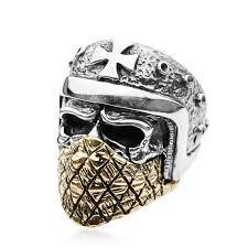 cool skull rings images Titanium skull rings for men zivpin jpg