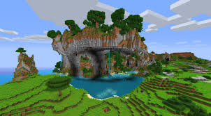 Pictures Of Landscapes by Minecraft Waterfall Landscape Wallpaper