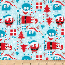 christmas pattern knit fabric christmas ooga boogas stretch cotton jersey knit red blue discount