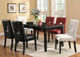 Cappuccino Dining Room Furniture Newbridge Deep Cappuccino Dining Table W 6 White Side Chairs