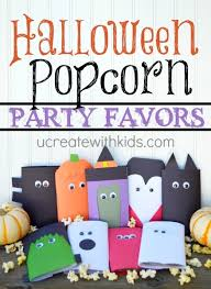 Halloween Party Favors Halloween Popcorn Party Favors Tutorial Free Template U Create