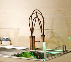How To Replace Kitchen Sink Faucet by Creative Design Rotation Led Color Changing Kitchen Sink Faucet