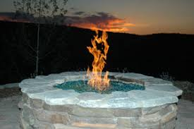 Propane Fire Pits With Glass Rocks by Evergreen Fireglass For Rectangular Outdoor Fire Pits Indoor