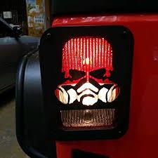 jeep wrangler brake light cover skull shape car taillight rear l cover for jeep wrangler jk 2007