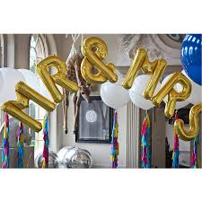 balloon letters mr and mrs jumbo metallic letters by bubblegum balloons