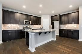 espresso kitchen cabinets with white quartz countertops founder s choice kitchen cabinets countertops
