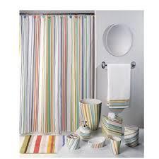 Vertical Striped Shower Curtain Multi Colored Striped Shower Curtain Curtains Ideas